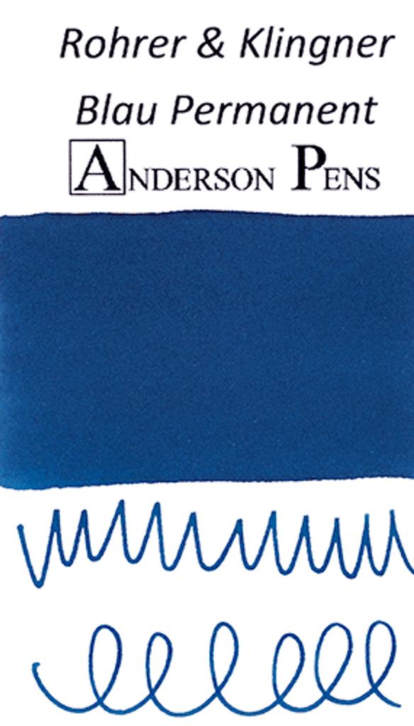 Rohrer & Klingner Blau Permanent Ink Color Swab