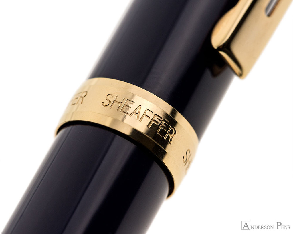 Sheaffer Prelude Rollerball - Cobalt Blue Lacquer with Rose Gold Trim - Cap Band