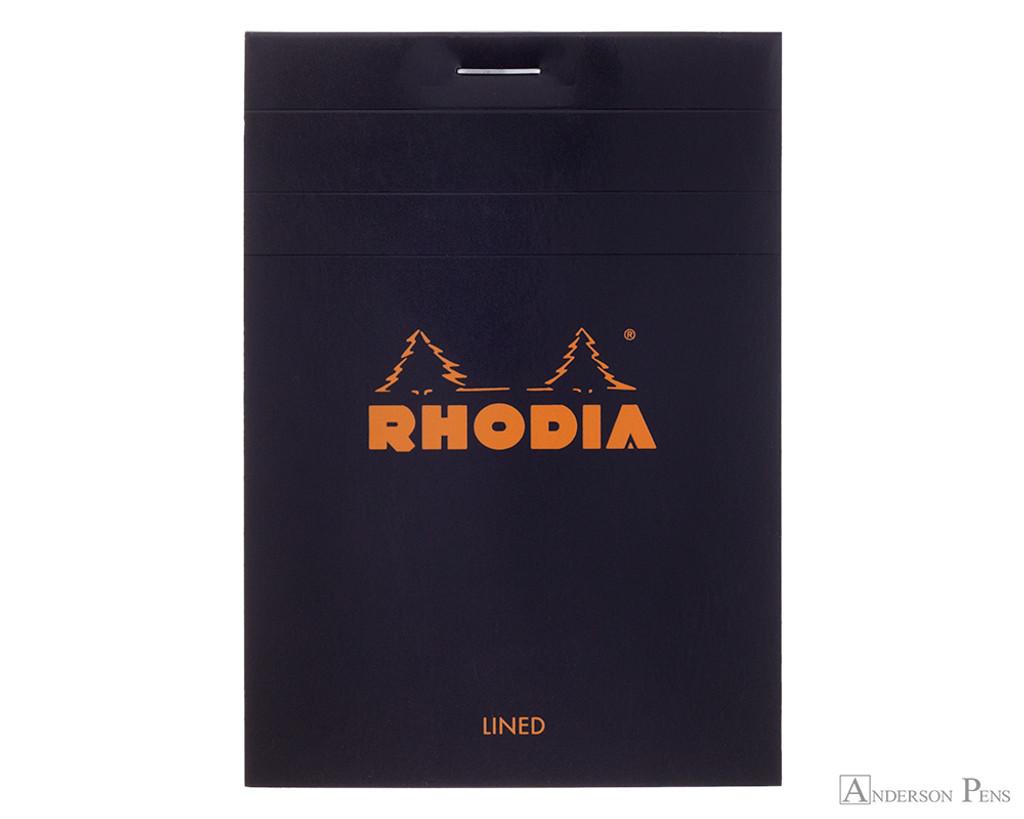 Rhodia No. 12 Staplebound Notepad - 3.375 x 4.75, Lined - Black
