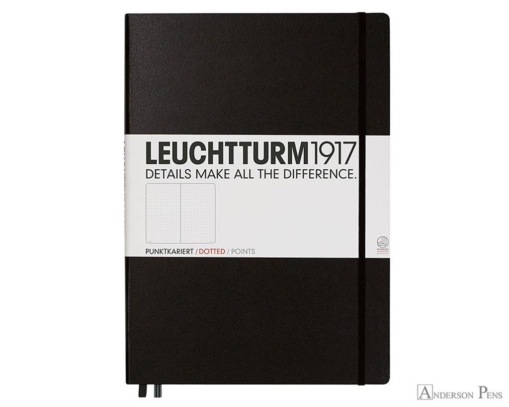 Leuchtturm1917 Master Classic Notebook - A4+, Dot Grid - Black