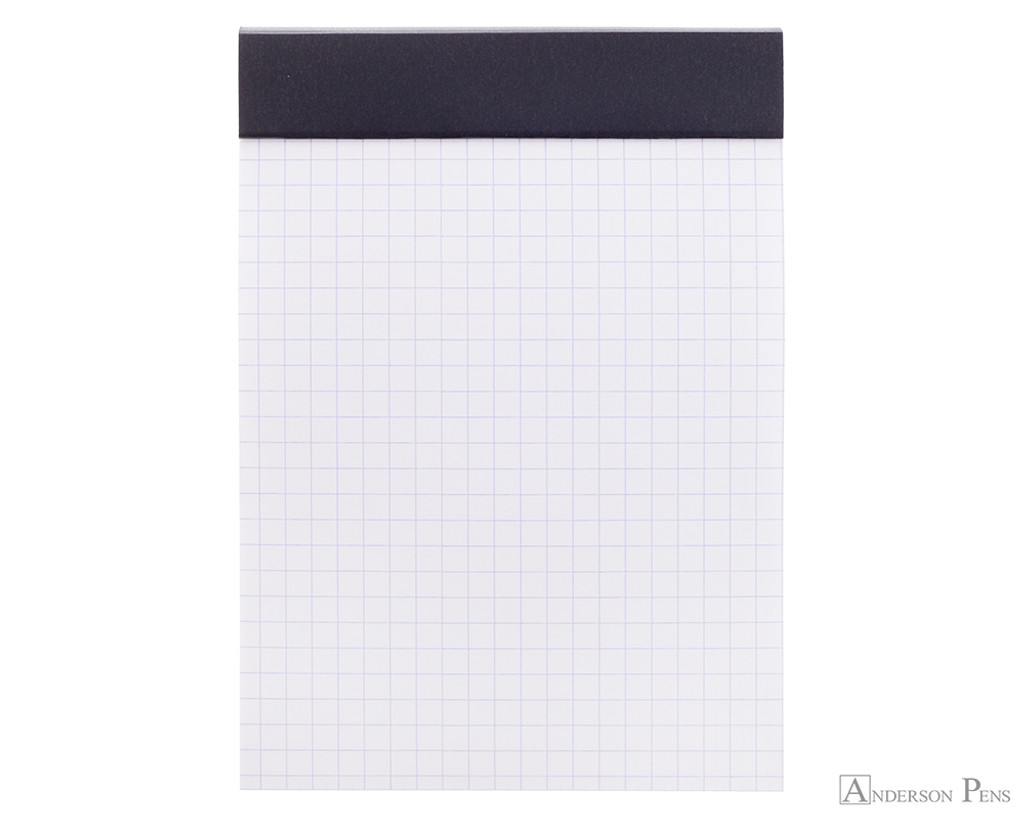 Rhodia No. 13 Staplebound Notepad - A6, Graph - Black open