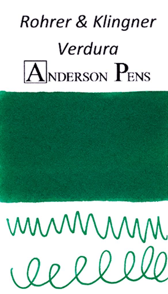 Rohrer & Klingner Verdura Green Ink Sample (3ml Vial)