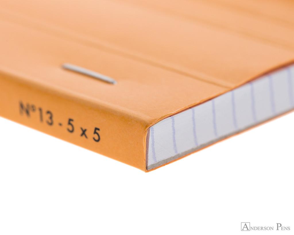 Rhodia No. 13 Staplebound Notepad - A6, Graph - Orange binding detail