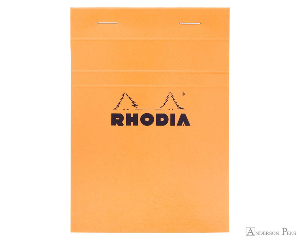 Rhodia No. 13 Staplebound Notepad - A6, Graph - Orange