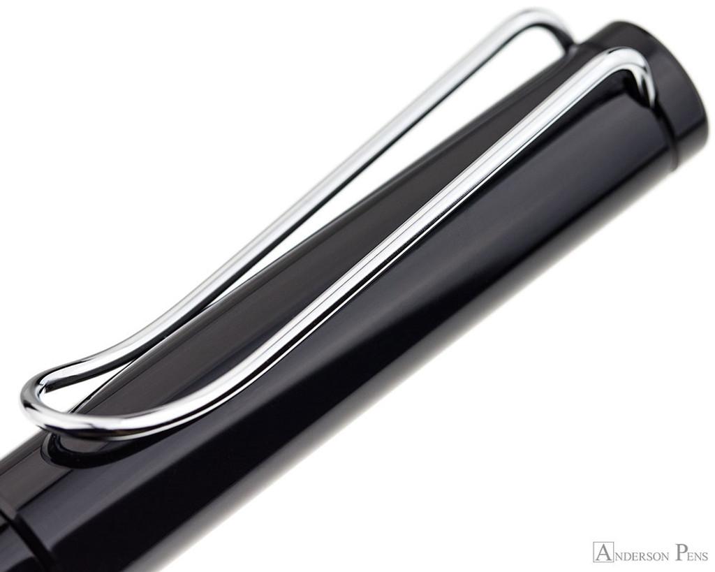 Lamy Safari Fountain Pen - Shiny Black - Clip