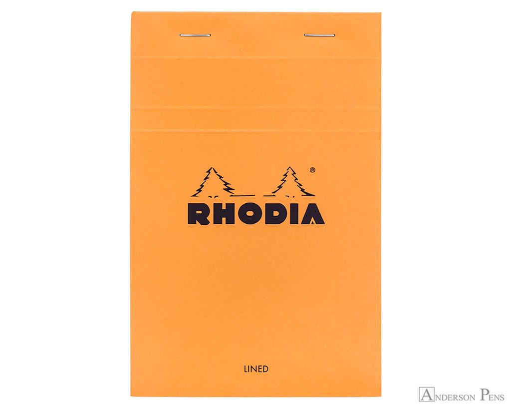 Rhodia No. 14 Staplebound Notepad - 4.375 x 6.375, Lined - Orange