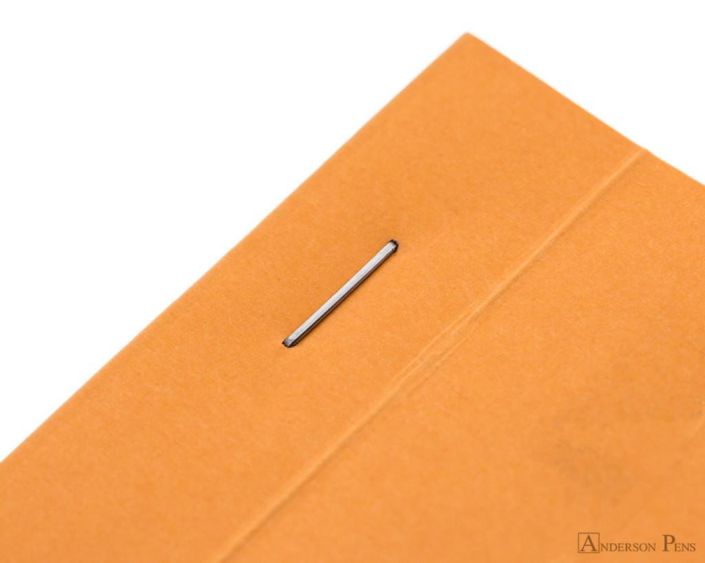 Rhodia No. 14 Staplebound Notepad - 4.375 x 6.375, Lined - Orange staple detail