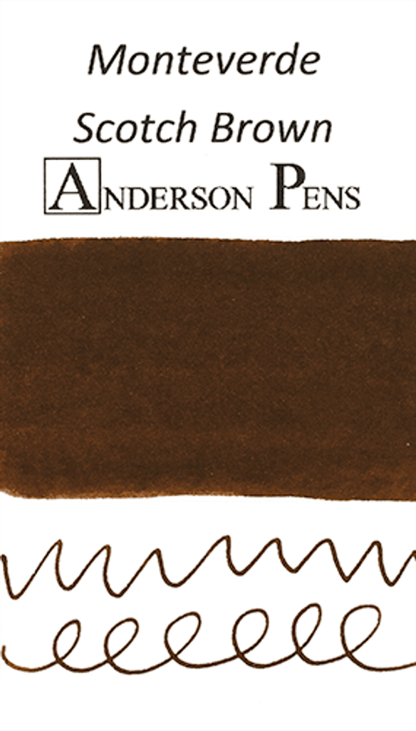 Monteverde Scotch Brown Ink Color Swab