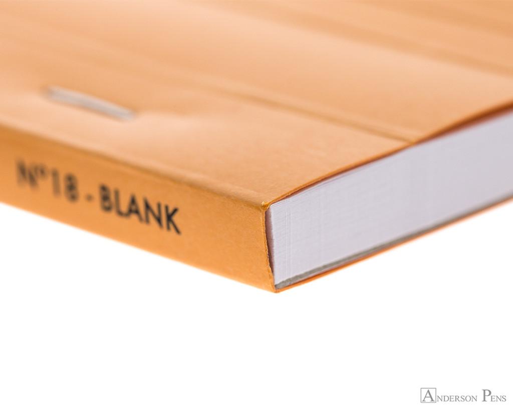 Rhodia No. 18 Staplebound Notepad - A4, Blank - Orange binding detail