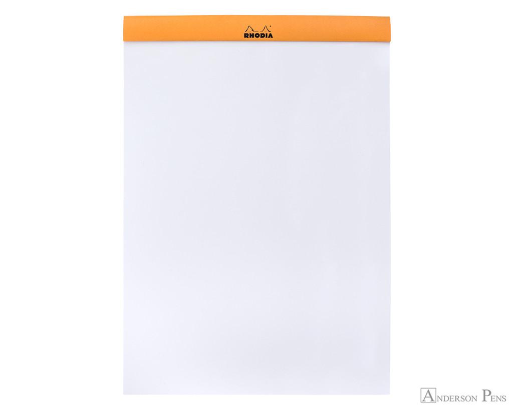 Rhodia No. 18 Staplebound Notepad - A4, Blank - Orange open