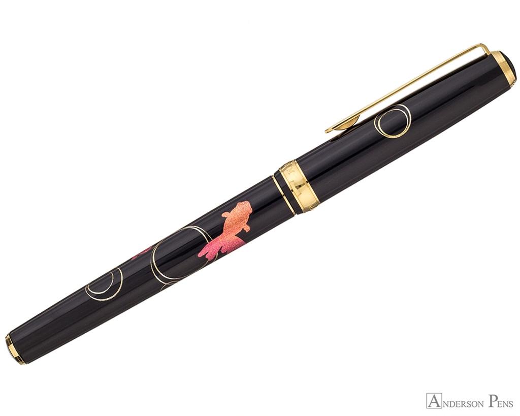 Platinum Classic Maki-e Kanazawa Leaf Fountain Pen - Goldfish - Profile