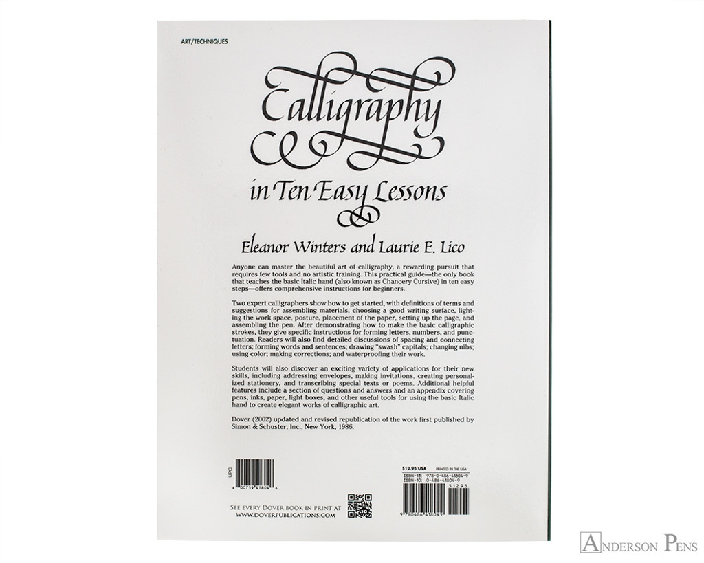 Calligraphy in Ten Easy Lessons - Winters