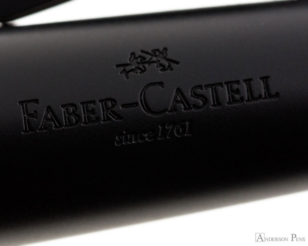 Faber-Castell e-motion Fountain Pen - Pure Black - Imprint