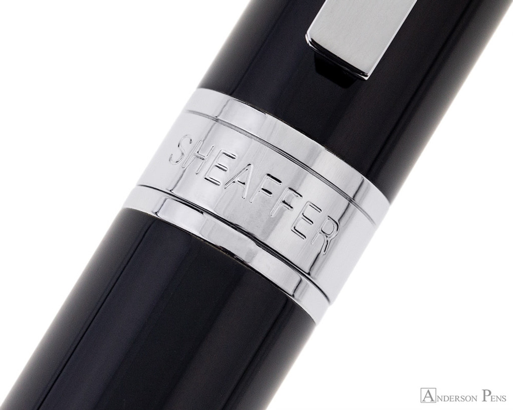 Sheaffer 300 Rollerball - Black with Chrome Trim - Cap Band