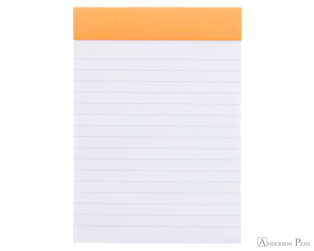 Rhodia No. 13 Staplebound Notepad - A6, Lined - Orange open