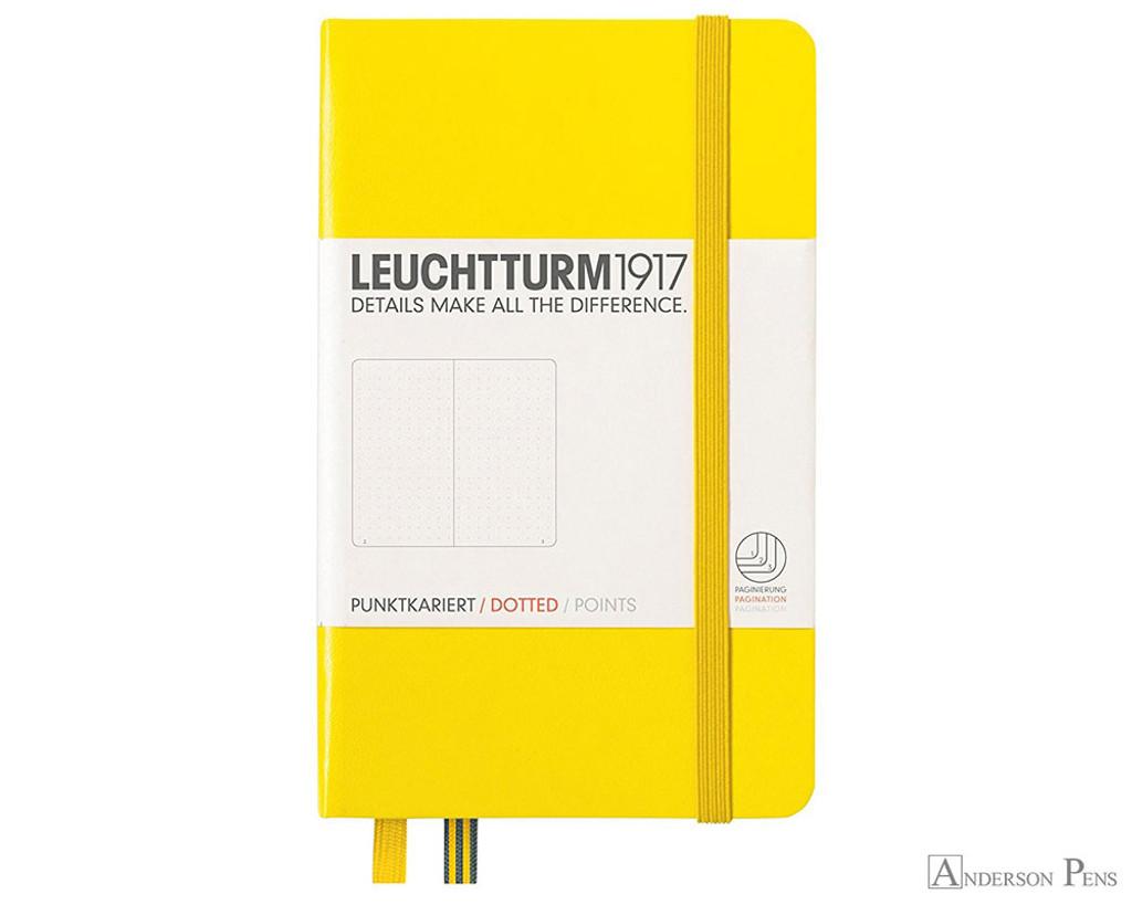 Leuchtturm1917 Notebook - A6, Dot Grid - Lemon
