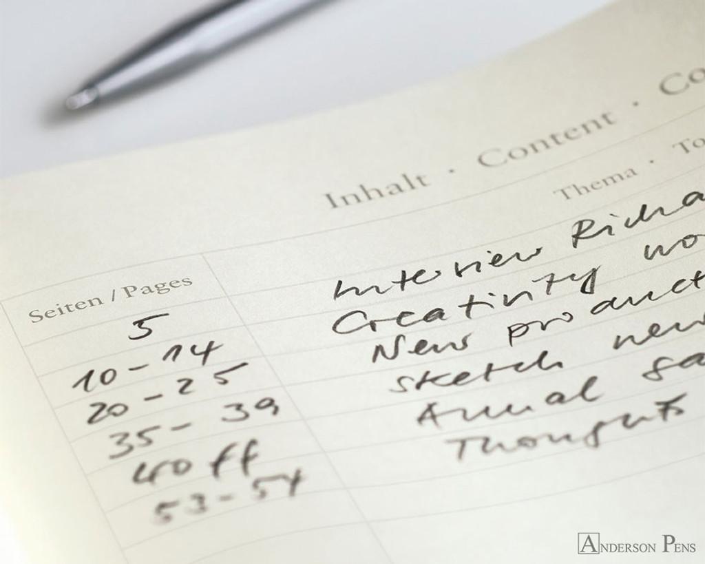 Leuchtturm1917 Notebook - A6, Dot Grid - Lemon contents page