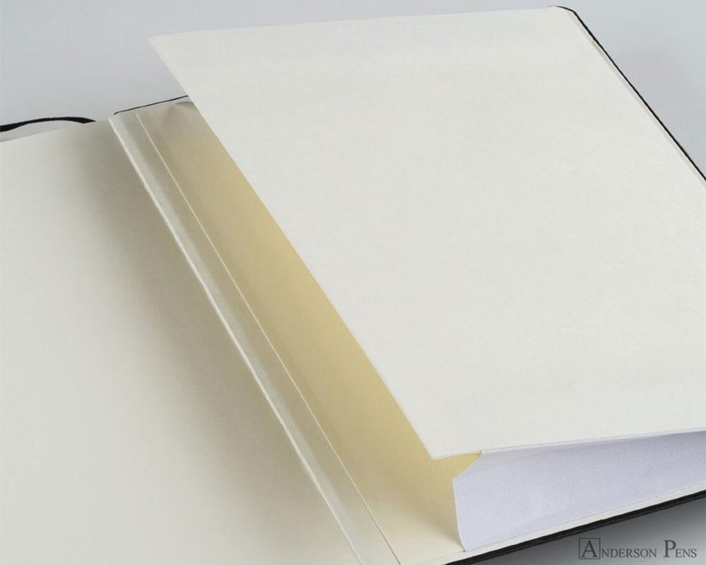 Leuchtturm1917 Notebook - A6, Dot Grid - Lemon back pocket