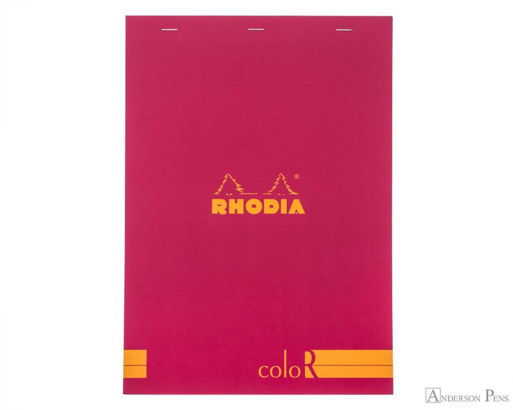 Rhodia No. 18 Premium Notepad - A4, Lined - Raspberry