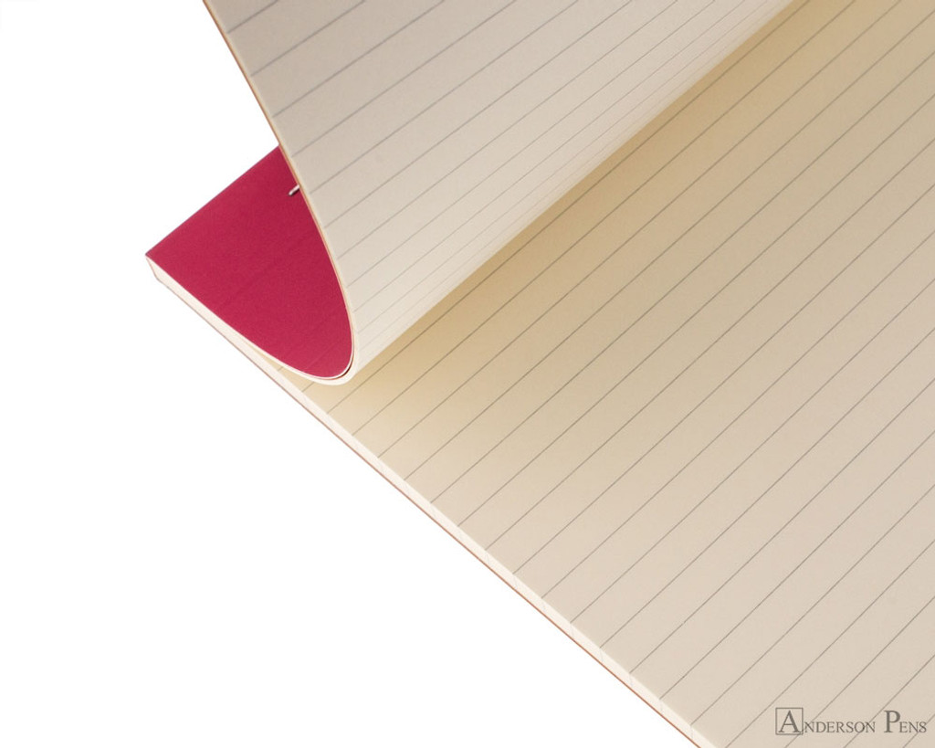 Rhodia No. 18 Premium Notepad - A4, Lined - Raspberry open