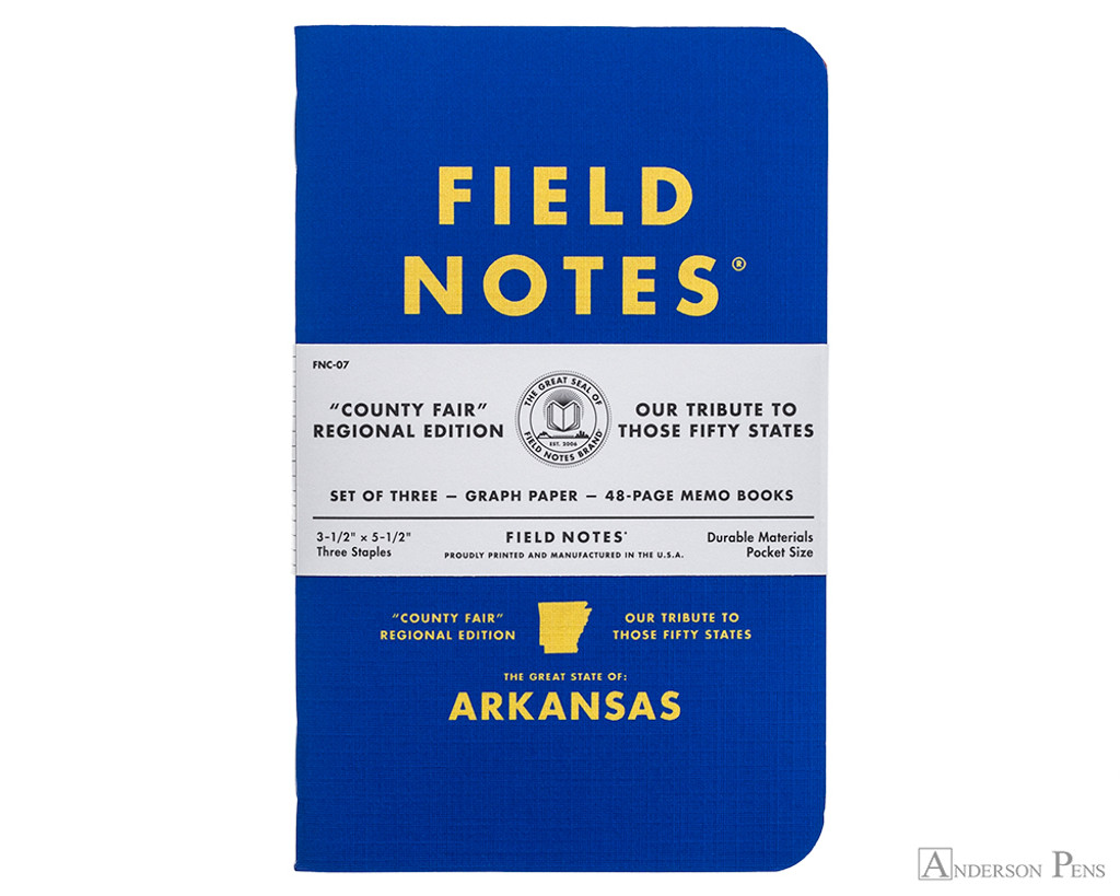 Field Notes Notebooks - County Fair, Arkansas (3 Pack)
