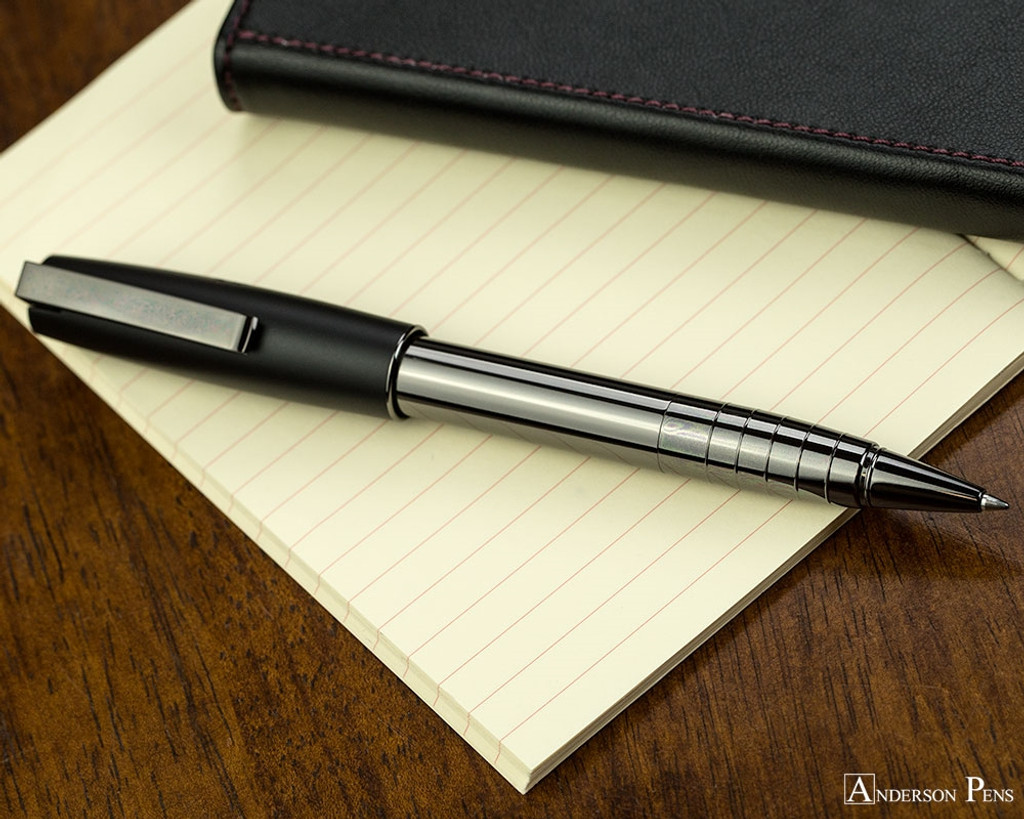 Faber-Castell Loom Rollerball - Gunmetal Polished - Posted on Notebook