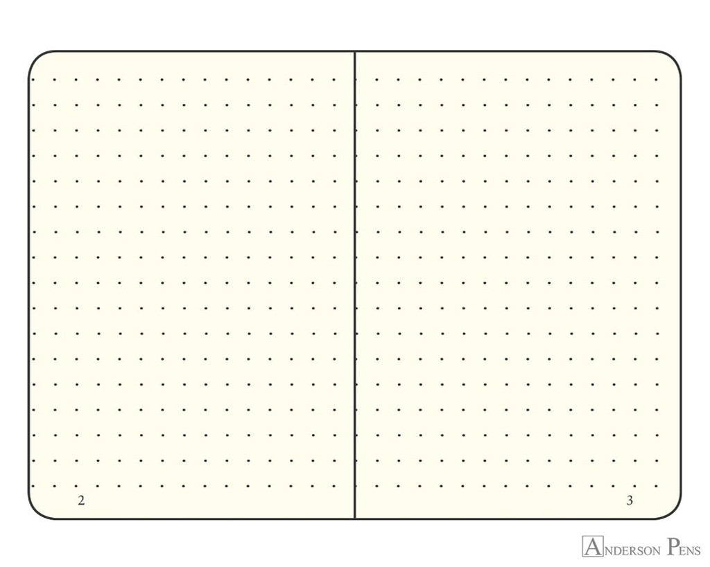 Leuchtturm1917 Notebook - A6, Dot Grid - Black open