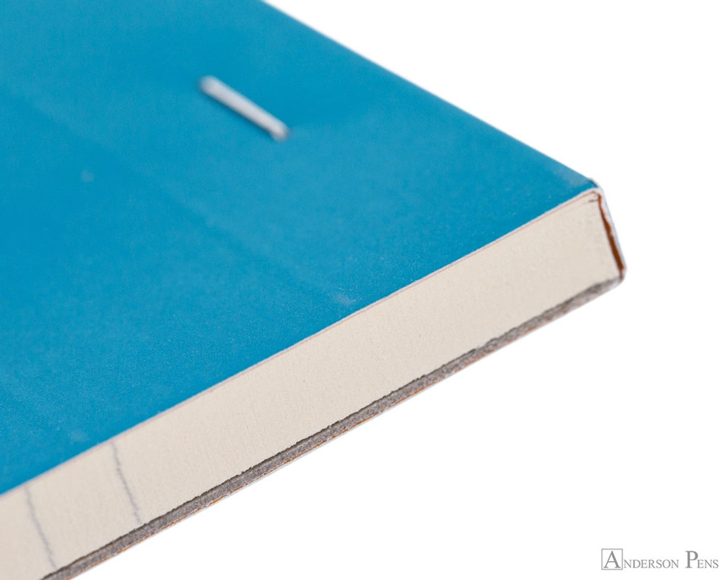 Rhodia No. 18 Premium Notepad - A4, Lined - Turquoise binding detail