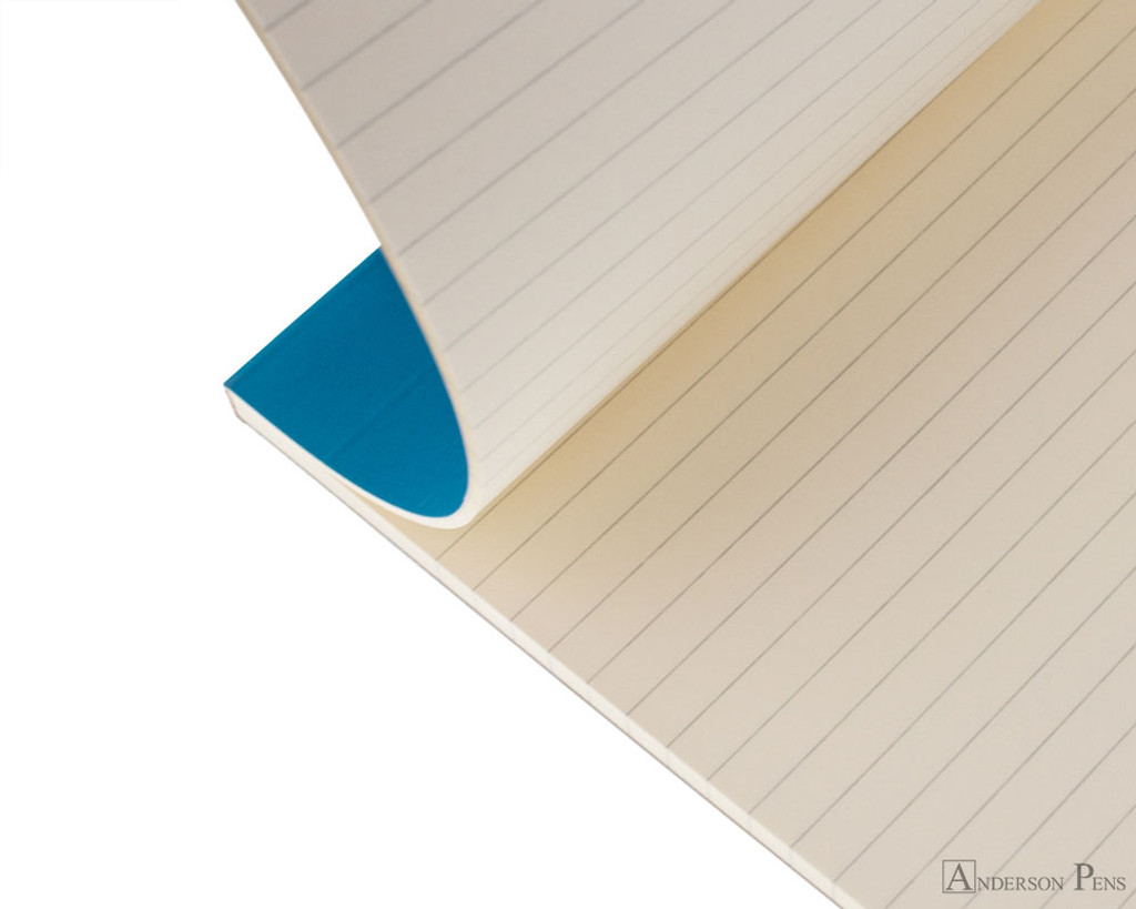 Rhodia No. 18 Premium Notepad - A4, Lined - Turquoise open