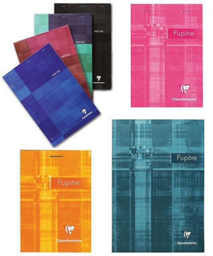 Clairefontaine Classic Top Staplebound Notepad - 4 x 6, Graph - Assorted