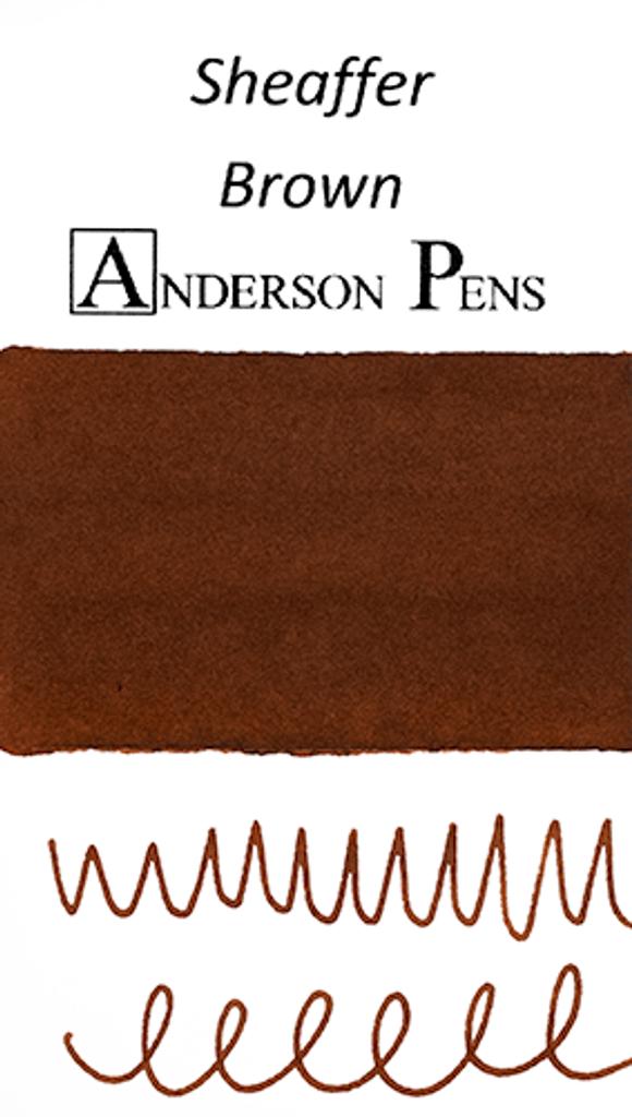 Sheaffer Brown Ink Color Swab