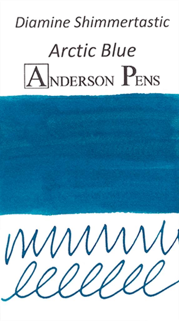 Diamine Shimmertastic Arctic Blue Ink Color Swab