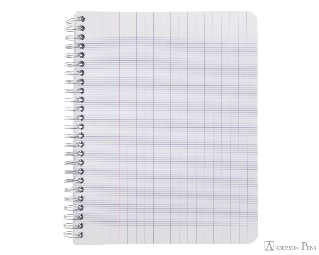 Clairefontaine Classic Wirebound Notepad - 6.75 x 8.75, French-Ruled - Assorted - Open