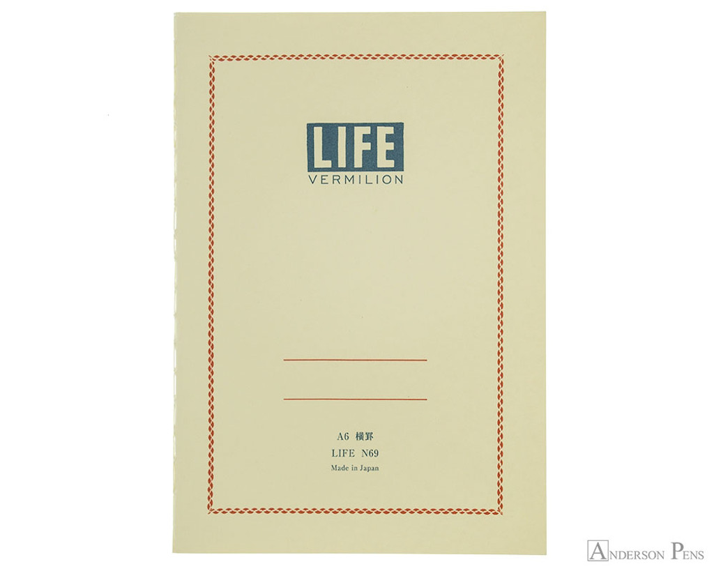 Life Vermilion Notebook - A6 (4 x 6), Lined Paper