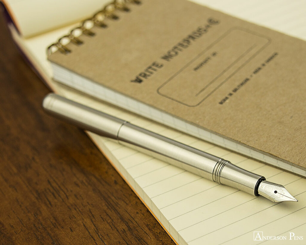 Kaweco Liliput Fountain Pen - Stainless Steel - Posted on Notebook
