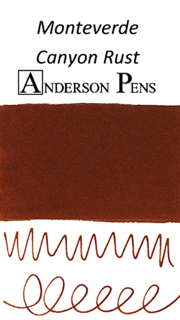 Monteverde Canyon Rust Ink Sample (3ml Vial)