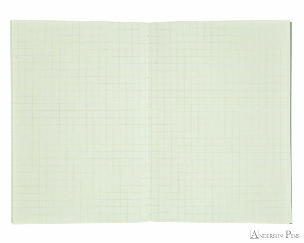 Life Pistachio Notebook - A6 (4 x 6), Graph Paper - Open