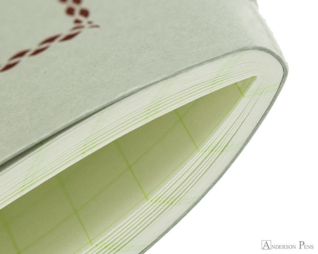 Life Pistachio Notebook - A6 (4 x 6), Graph Paper - Binding