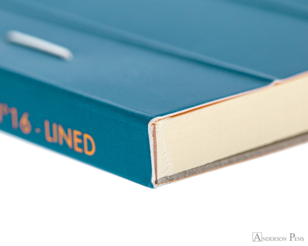 Rhodia No. 16 Premium Notepad - A5, Lined - Turquoise binding detail