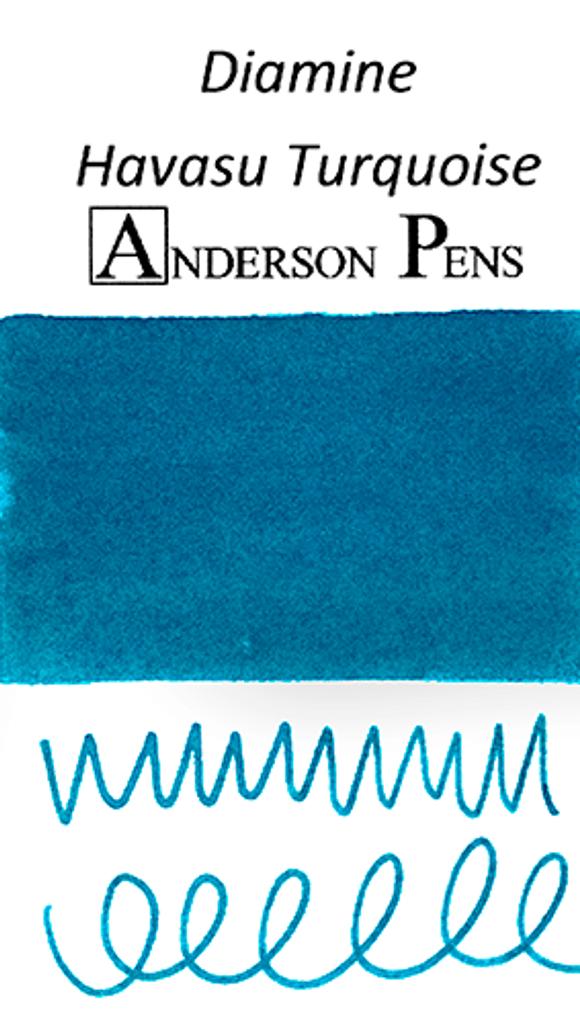 Diamine Havasu Turquoise Ink Color Swab