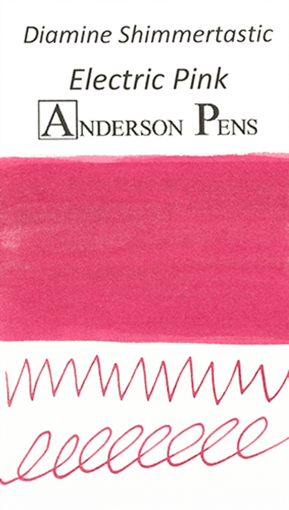 Diamine Shimmertastic Electric Pink Ink Color Swab