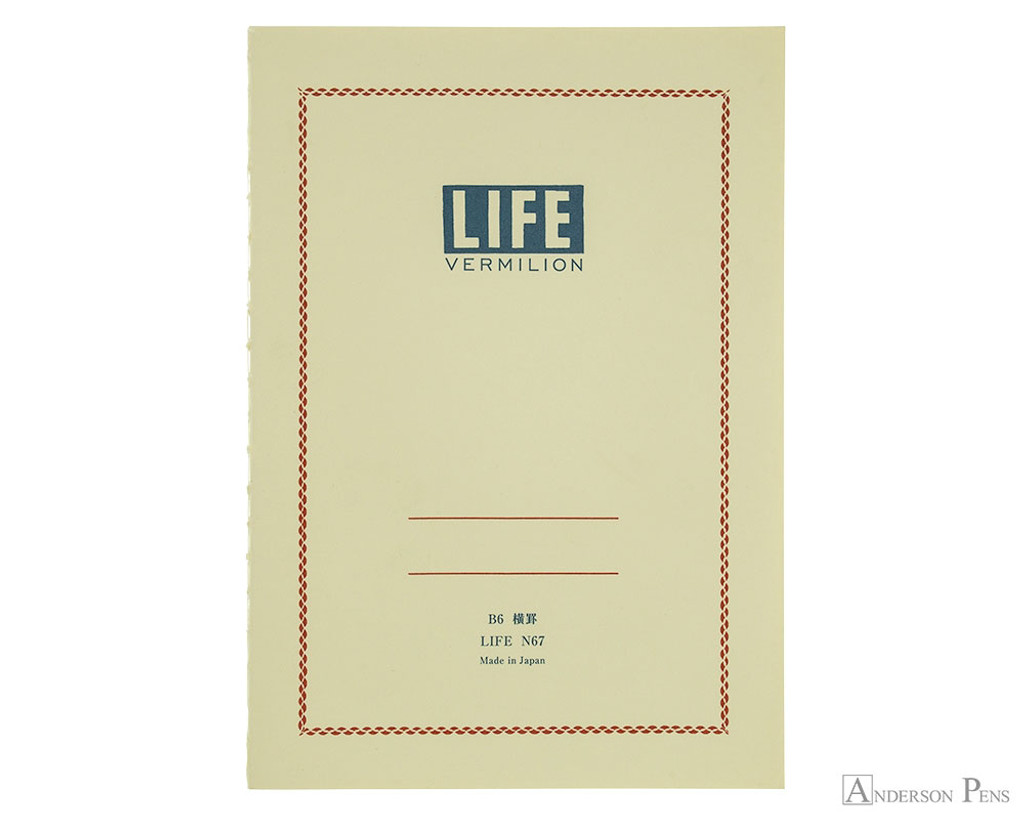 Life Vermilion Notebook - B6 (5 x 7), Lined Paper