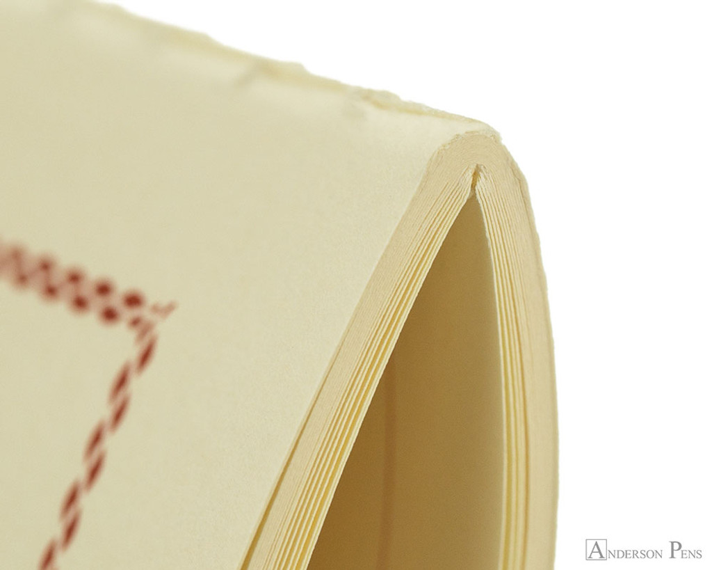 Life Vermilion Notebook - B6 (5 x 7), Lined Paper - Binding