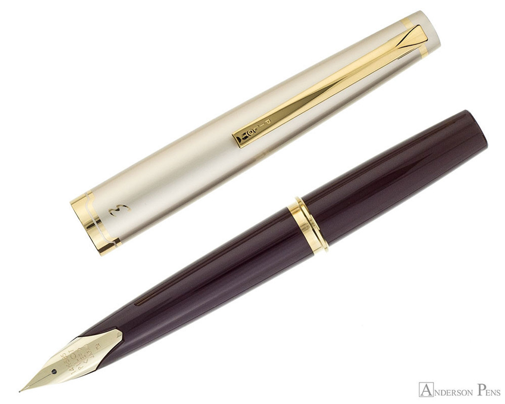 Pilot E95S Fountain Pen - Burgundy and Ivory