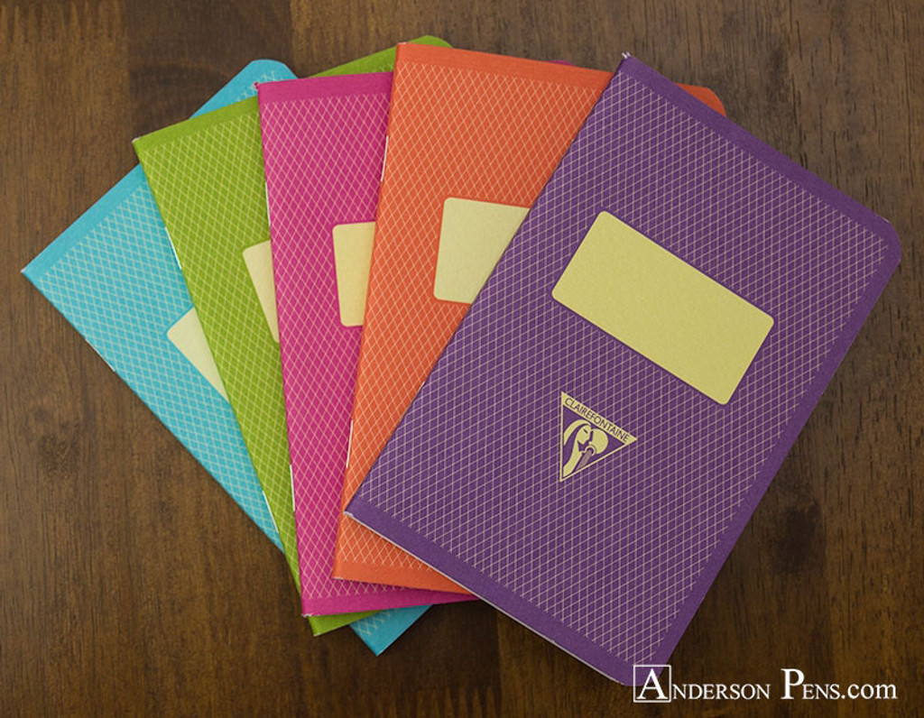 Clairefontaine 1951 Staplebound Notebook - 3.5 x 5.5, Lined - Assorted