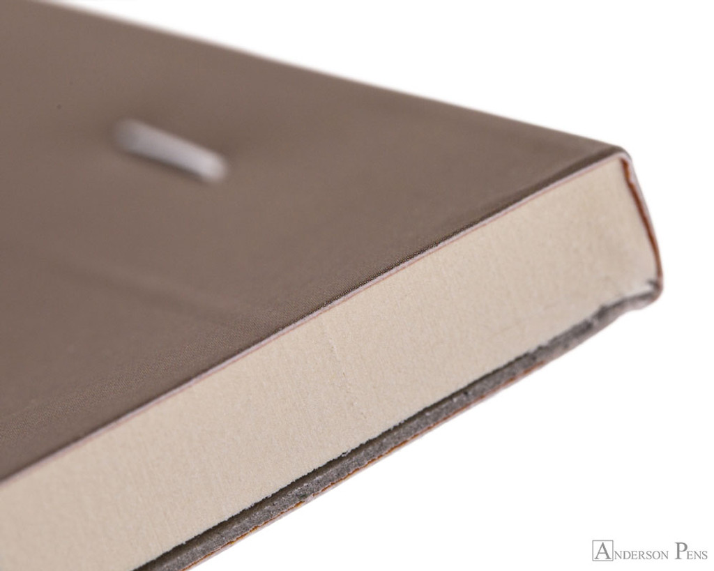 Rhodia No. 18 Premium Notepad - A4, Lined - Taupe binding detail