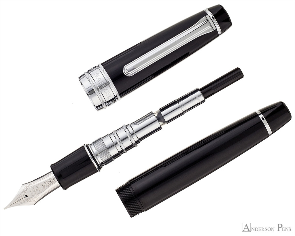 Sailor Pro Gear King of Pen Fountain Pen - Black with Rhodium Trim - Parted Out