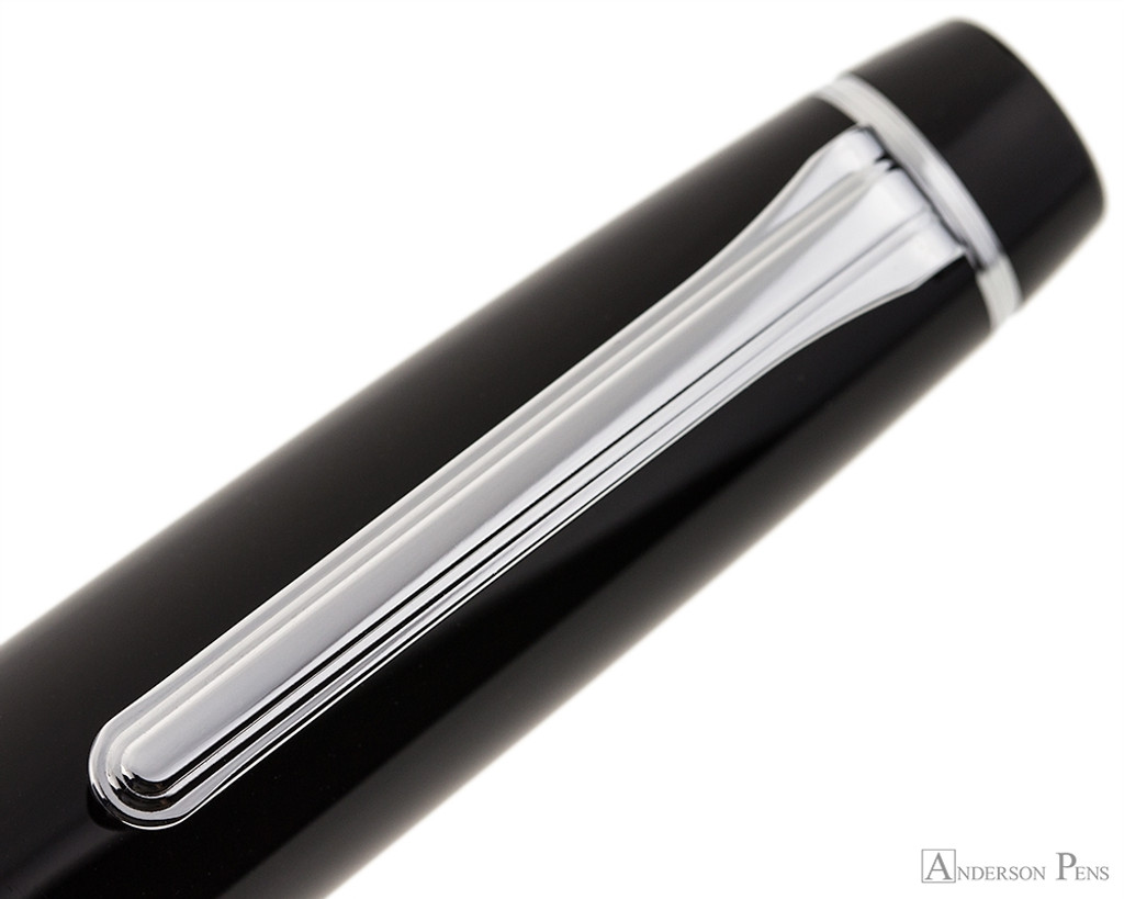 Sailor Pro Gear King of Pen Fountain Pen - Black with Rhodium Trim - Clip