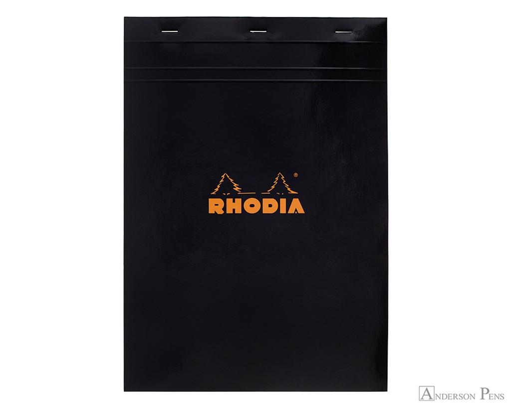Rhodia No. 18 Staplebound Notepad - A4, Graph - Black