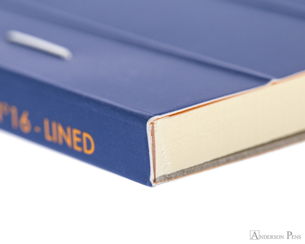Rhodia No. 16 Premium Notepad - A5, Lined - Sapphire binding detail
